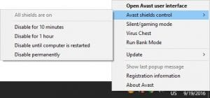How To Disable Avast Antivirus In Windows 7/8/10