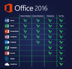 Microsoft Office 2016 For Windows 10,8,7